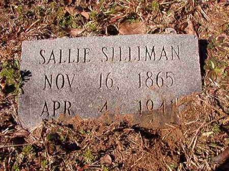 SILLIMAN, SALLIE - Calhoun County, Arkansas | SALLIE SILLIMAN - Arkansas Gravestone Photos