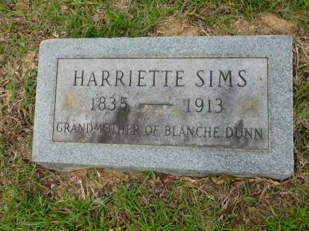 SIMS, HARRIETTE - Calhoun County, Arkansas | HARRIETTE SIMS - Arkansas Gravestone Photos