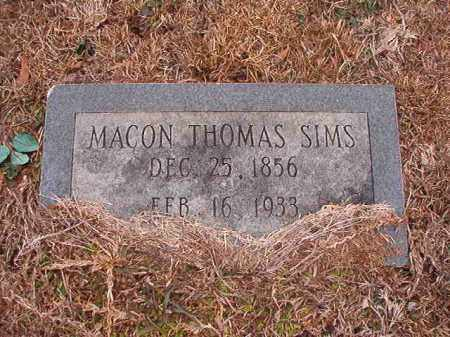 SIMS, MACON THOMAS - Calhoun County, Arkansas | MACON THOMAS SIMS - Arkansas Gravestone Photos