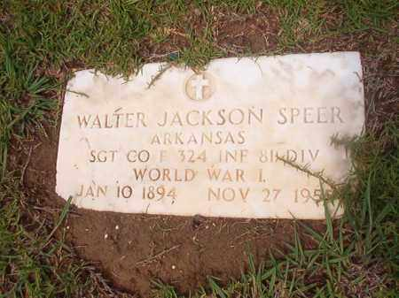 SPEER (VETERAN WWI), WALTER JACKSON - Calhoun County, Arkansas | WALTER JACKSON SPEER (VETERAN WWI) - Arkansas Gravestone Photos