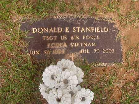 STANFIELD (VETERAN 2 WARS), DONALD E - Calhoun County, Arkansas | DONALD E STANFIELD (VETERAN 2 WARS) - Arkansas Gravestone Photos