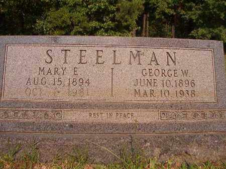 STEELMAN, GEORGE W - Calhoun County, Arkansas | GEORGE W STEELMAN - Arkansas Gravestone Photos