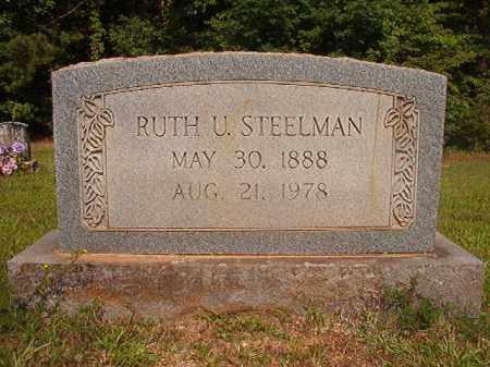 STEELMAN, RUTH U - Calhoun County, Arkansas | RUTH U STEELMAN - Arkansas Gravestone Photos