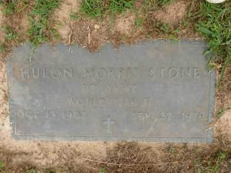 STONE (VETERAN WWII), HULON MORRIS - Calhoun County, Arkansas | HULON MORRIS STONE (VETERAN WWII) - Arkansas Gravestone Photos