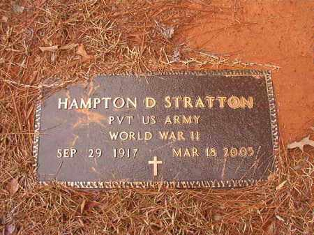 STRATTON (VETERAN WWII), HAMPTON D - Calhoun County, Arkansas | HAMPTON D STRATTON (VETERAN WWII) - Arkansas Gravestone Photos