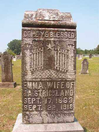 STRICKLAND, EMMA - Calhoun County, Arkansas | EMMA STRICKLAND - Arkansas Gravestone Photos