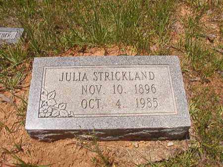STRICKLAND, JULIA - Calhoun County, Arkansas | JULIA STRICKLAND - Arkansas Gravestone Photos