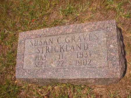 GRAVES STRICKLAND, SUSAN C - Calhoun County, Arkansas | SUSAN C GRAVES STRICKLAND - Arkansas Gravestone Photos