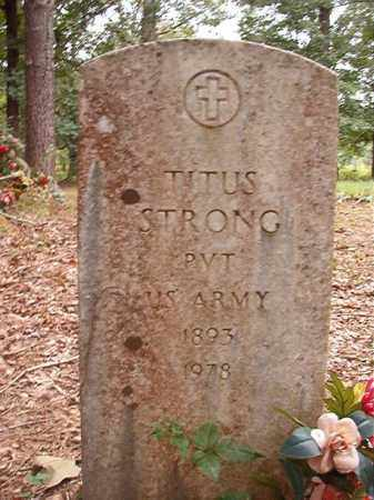 STRONG (VETERAN), TITUS - Calhoun County, Arkansas | TITUS STRONG (VETERAN) - Arkansas Gravestone Photos