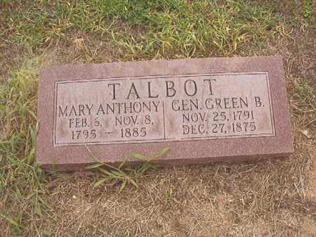 ANTHONY TALBOT, MARY - Calhoun County, Arkansas | MARY ANTHONY TALBOT - Arkansas Gravestone Photos
