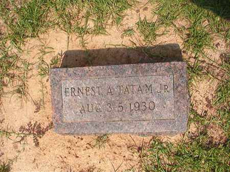 TATAM, JR, ERNEST A - Calhoun County, Arkansas | ERNEST A TATAM, JR - Arkansas Gravestone Photos