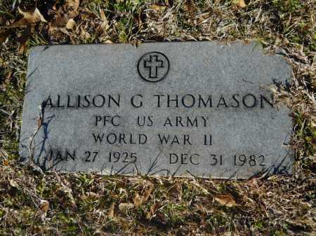 THOMASON (VETERAN WWII), ALLISON G - Calhoun County, Arkansas | ALLISON G THOMASON (VETERAN WWII) - Arkansas Gravestone Photos
