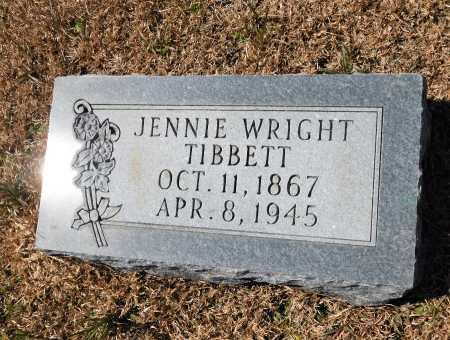 WRIGHT TIBBETT, JENNIE - Calhoun County, Arkansas | JENNIE WRIGHT TIBBETT - Arkansas Gravestone Photos