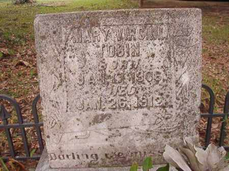 TOBIN, MARY VIRGINIA - Calhoun County, Arkansas | MARY VIRGINIA TOBIN - Arkansas Gravestone Photos