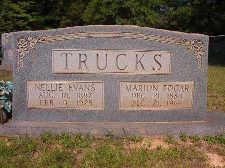 EVANS TRUCKS, NELLIE - Calhoun County, Arkansas | NELLIE EVANS TRUCKS - Arkansas Gravestone Photos