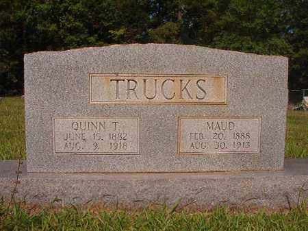TRUCKS, QUINN T - Calhoun County, Arkansas | QUINN T TRUCKS - Arkansas Gravestone Photos