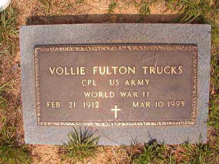 TRUCKS (VETERAN WWII), VOLLIE FULTON - Calhoun County, Arkansas | VOLLIE FULTON TRUCKS (VETERAN WWII) - Arkansas Gravestone Photos