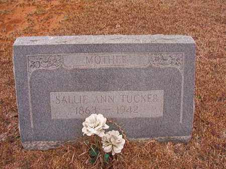 TUCKER, SALLIE ANN - Calhoun County, Arkansas | SALLIE ANN TUCKER - Arkansas Gravestone Photos