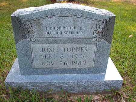 TURNER, JOSIE - Calhoun County, Arkansas | JOSIE TURNER - Arkansas Gravestone Photos