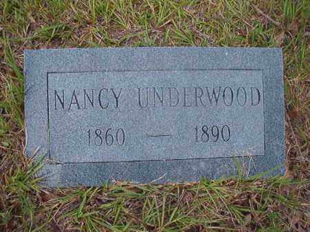 UNDERWOOD, NANCY - Calhoun County, Arkansas | NANCY UNDERWOOD - Arkansas Gravestone Photos
