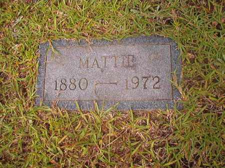 UNKNOWN, MATTIE - Calhoun County, Arkansas | MATTIE UNKNOWN - Arkansas Gravestone Photos