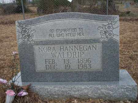 HANNEGAN WALDRIP, NORA - Calhoun County, Arkansas | NORA HANNEGAN WALDRIP - Arkansas Gravestone Photos