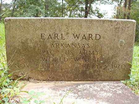WARD (VETERAN WWII), EARL - Calhoun County, Arkansas | EARL WARD (VETERAN WWII) - Arkansas Gravestone Photos