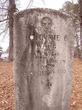 WARE (VETERAN), JOHNNIE B - Calhoun County, Arkansas | JOHNNIE B WARE (VETERAN) - Arkansas Gravestone Photos