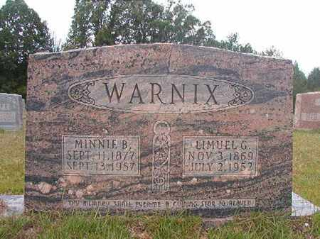 WARNIX, MINNIE B - Calhoun County, Arkansas | MINNIE B WARNIX - Arkansas Gravestone Photos