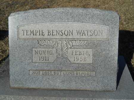 BENSON WATSON, TEMPIE - Calhoun County, Arkansas | TEMPIE BENSON WATSON - Arkansas Gravestone Photos