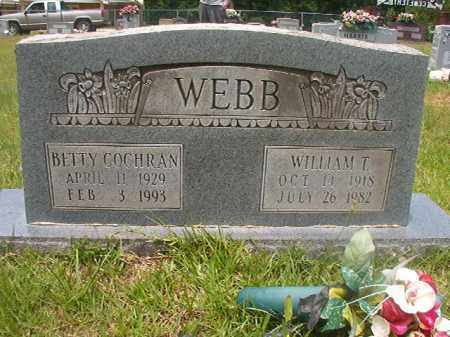 COCHRAN WEBB, BETTY - Calhoun County, Arkansas | BETTY COCHRAN WEBB - Arkansas Gravestone Photos