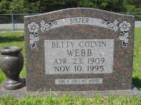 COLVIN WEBB, BETTY - Calhoun County, Arkansas | BETTY COLVIN WEBB - Arkansas Gravestone Photos