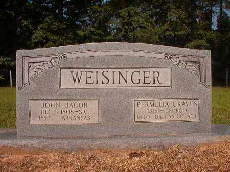 WEISINGER, JOHN JACOB - Calhoun County, Arkansas | JOHN JACOB WEISINGER - Arkansas Gravestone Photos