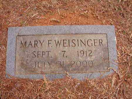 WEISINGER, MARY F - Calhoun County, Arkansas | MARY F WEISINGER - Arkansas Gravestone Photos