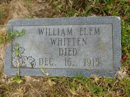 WHITTEN, WILLIAM ELEM - Calhoun County, Arkansas | WILLIAM ELEM WHITTEN - Arkansas Gravestone Photos