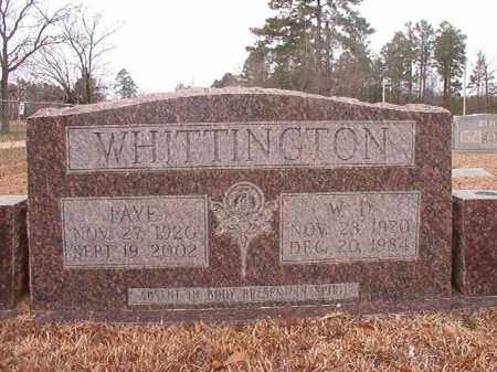 WHITTINGTON, FAYE - Calhoun County, Arkansas | FAYE WHITTINGTON - Arkansas Gravestone Photos