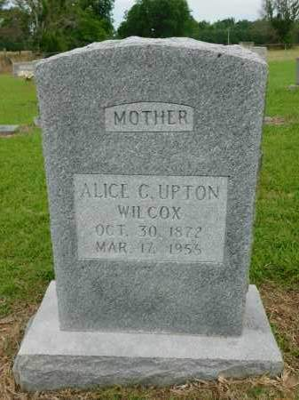 UPTON WILCOX, ALICE C - Calhoun County, Arkansas | ALICE C UPTON WILCOX - Arkansas Gravestone Photos
