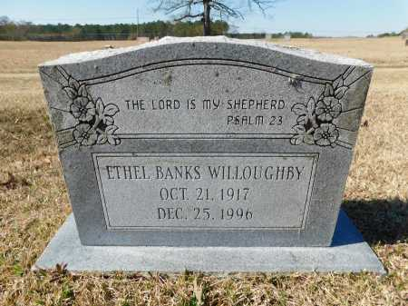 BANKS WILLOUGHBY, ETHEL - Calhoun County, Arkansas | ETHEL BANKS WILLOUGHBY - Arkansas Gravestone Photos