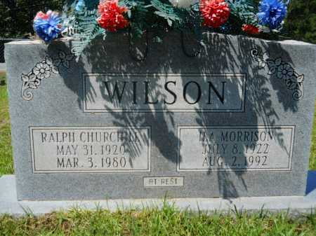 WILSON, RALPH CHURCHILL - Calhoun County, Arkansas | RALPH CHURCHILL WILSON - Arkansas Gravestone Photos