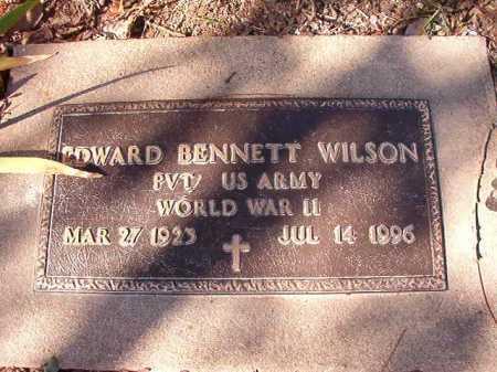 WILSON (VETERAN WWII), EDWARD BENNETT - Calhoun County, Arkansas | EDWARD BENNETT WILSON (VETERAN WWII) - Arkansas Gravestone Photos