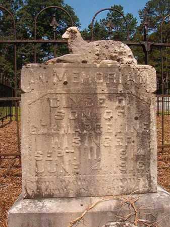 WISINGER, CLYDE D - Calhoun County, Arkansas | CLYDE D WISINGER - Arkansas Gravestone Photos
