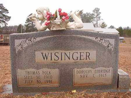WISINGER, THOMAS POLK - Calhoun County, Arkansas | THOMAS POLK WISINGER - Arkansas Gravestone Photos