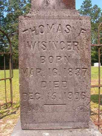 WISINGER, THOMAS FRANKLIN - Calhoun County, Arkansas | THOMAS FRANKLIN WISINGER - Arkansas Gravestone Photos
