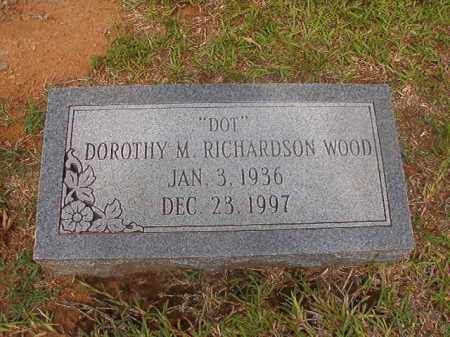 WOOD, DOROTHY M - Calhoun County, Arkansas | DOROTHY M WOOD - Arkansas Gravestone Photos