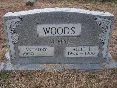 WOODS, ALLIE L - Calhoun County, Arkansas | ALLIE L WOODS - Arkansas Gravestone Photos