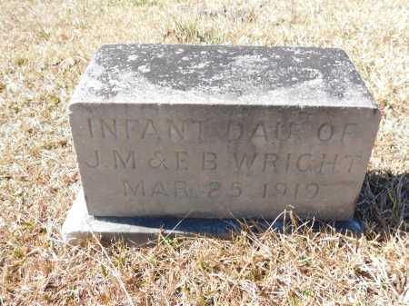 WRIGHT, INFANT DAUGHTER - Calhoun County, Arkansas | INFANT DAUGHTER WRIGHT - Arkansas Gravestone Photos