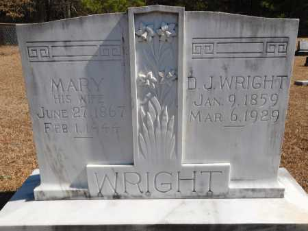 WRIGHT, MARY - Calhoun County, Arkansas | MARY WRIGHT - Arkansas Gravestone Photos