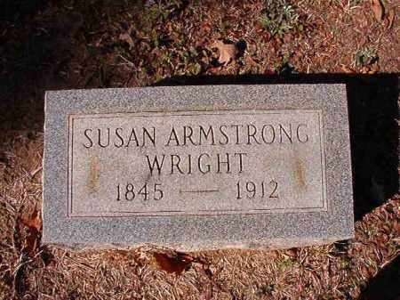 ARMSTRONG WRIGHT, SUSAN - Calhoun County, Arkansas | SUSAN ARMSTRONG WRIGHT - Arkansas Gravestone Photos