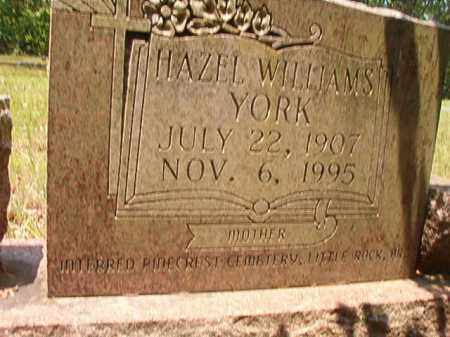 WILLIAMS YORK, HAZEL - Calhoun County, Arkansas | HAZEL WILLIAMS YORK - Arkansas Gravestone Photos