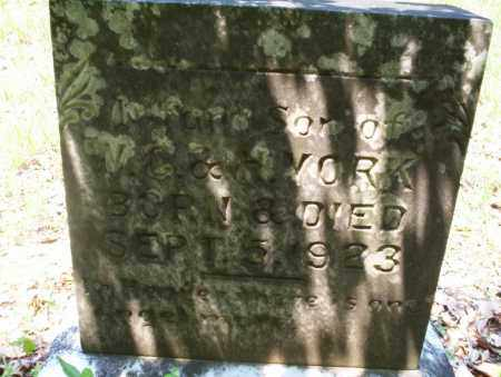 YORK, INFANT SON - Calhoun County, Arkansas | INFANT SON YORK - Arkansas Gravestone Photos